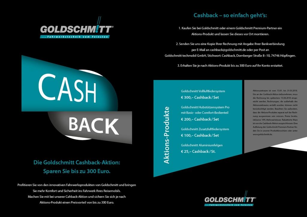 Cashback Aktion CMT 2018